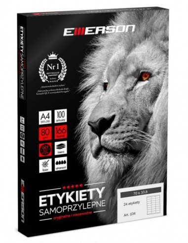 Etykiety samoprzylepne EME34 70x33,8...