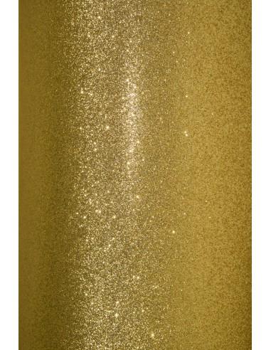 Glitter Paper Gold 210g Pack of 5 A4