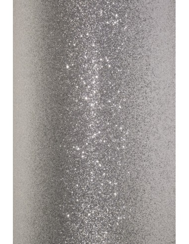 Glitter Paper Silver 210g Pack of 5 A4