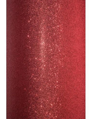 Papier ozdobny brokatowy czerwony...