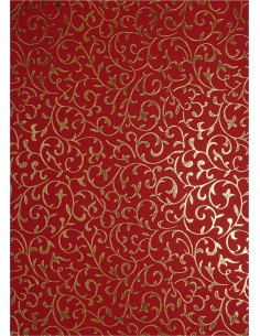 Decorative Paper Red - Gold...