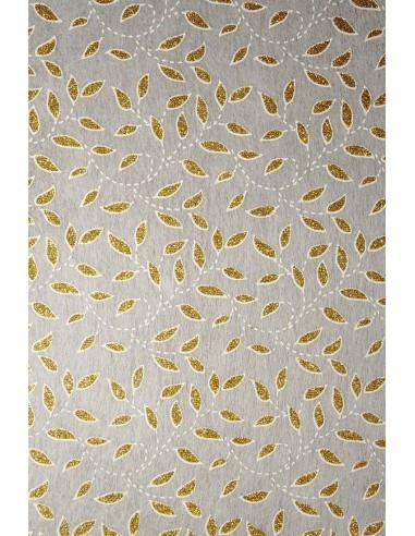 Non-woven Fabric Ecru - Gold Glitter...