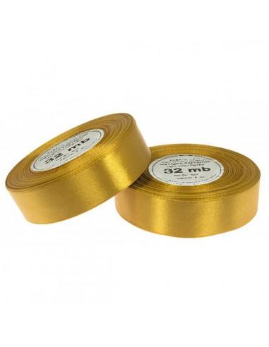 12mm WS8009 Wstążka satynowa złota 32mb