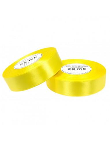 12mm WS8011 Wstążka satynowa żółta 32mb